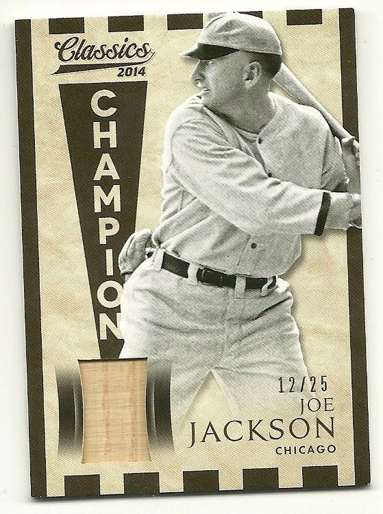 3fd36873192629 SOLD - SHOELESS JOE JACKSON game used bat card #12/25 Chicago White Sox # ChicagoWhiteSox