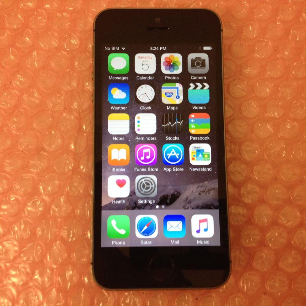 Apple iPhone 5s 16GB Space Gray Verizon Smartphone ME341LL