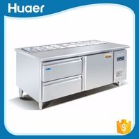 Stainless Steel Commercial Pizza Refrigerator Pizza Work Table - Commercial prep table refrigerator
