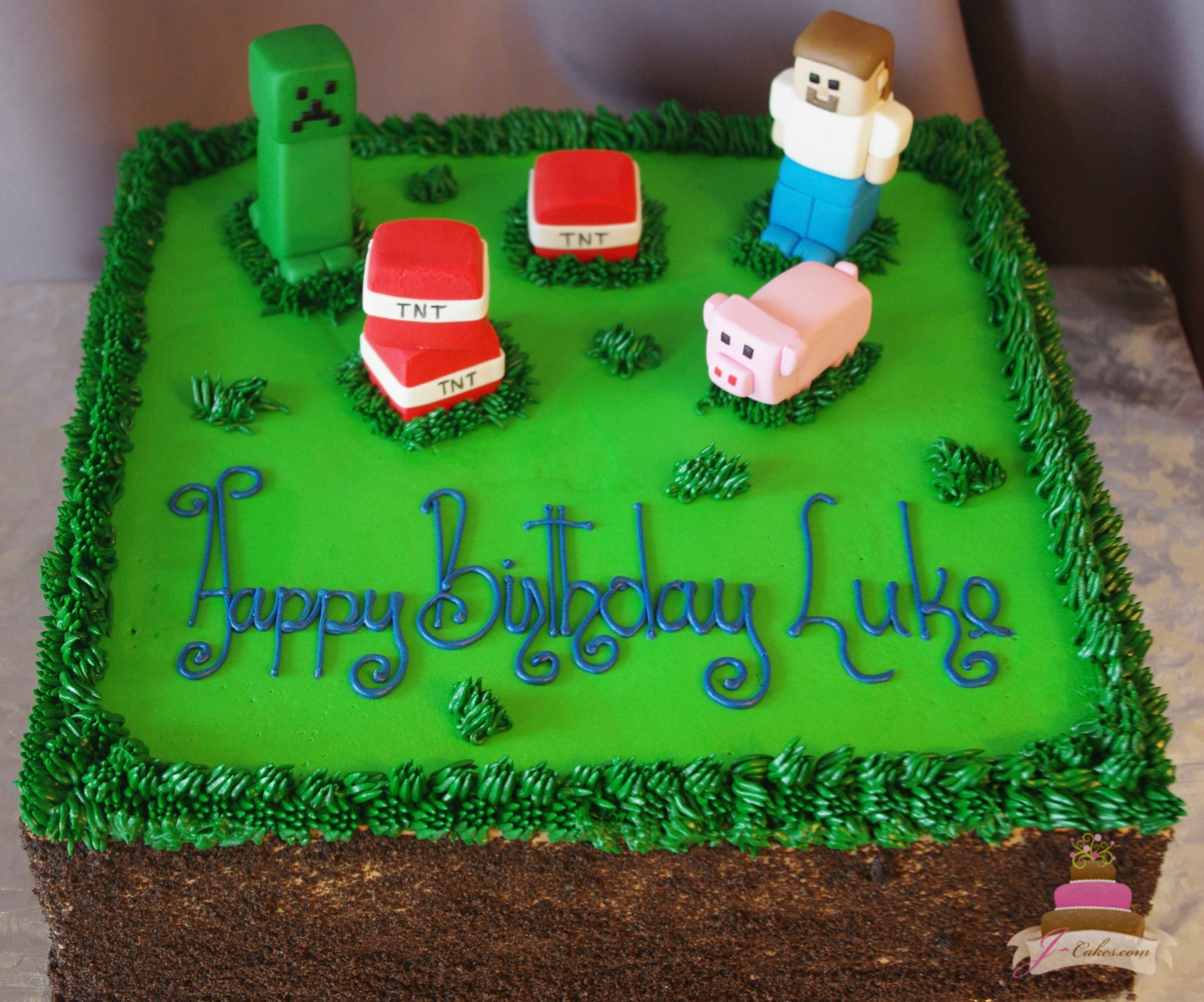 Terrific Enchanting Childrens Cakes In Ct With Images Minecraft Funny Birthday Cards Online Alyptdamsfinfo