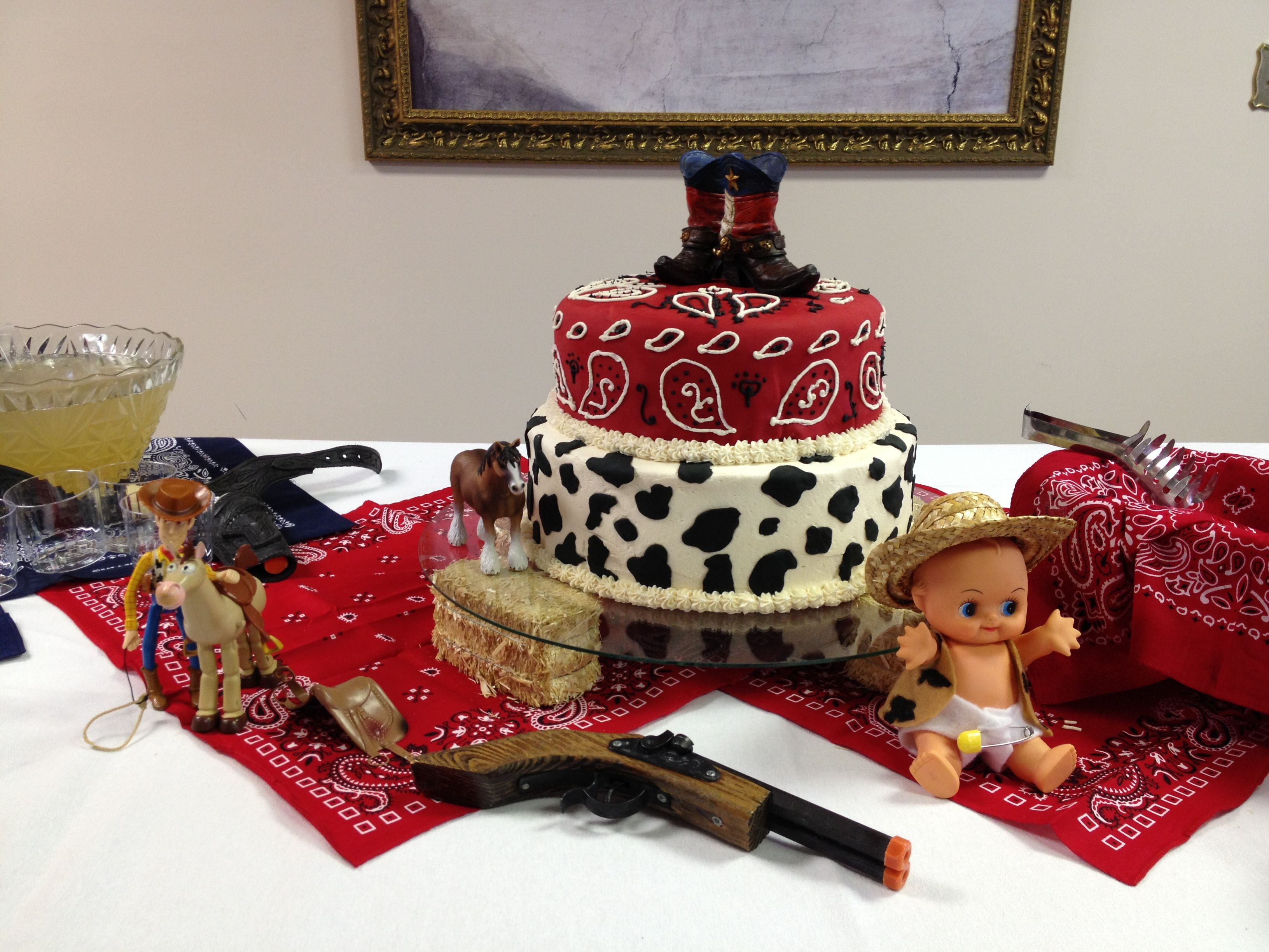 cowboy baby shower cake babies pinterest
