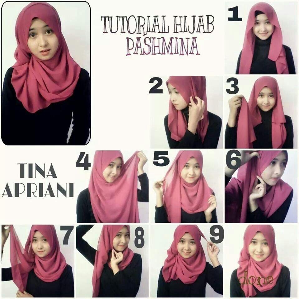 Tutorial Hijab Hijabers Pinterest Hijabs And Turban Pashmina Instan Hana 1 Loop