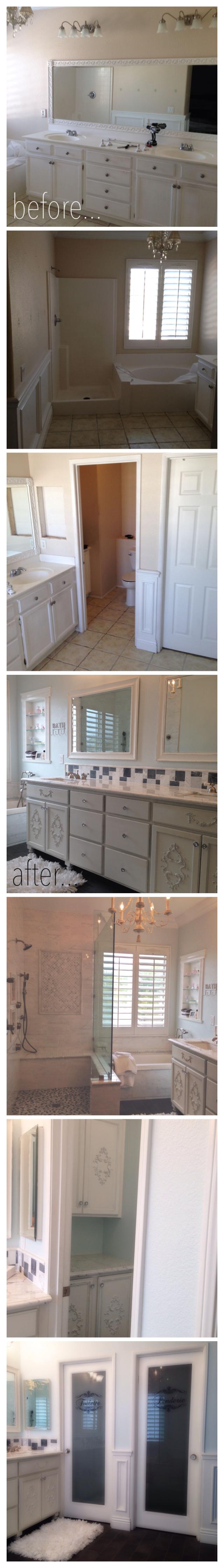 Master Bath Carrara Marble Shabby Chic Distressed