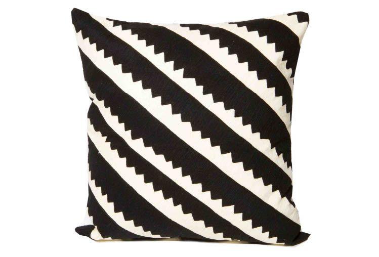Suki Cheema Taquile black and white cushion