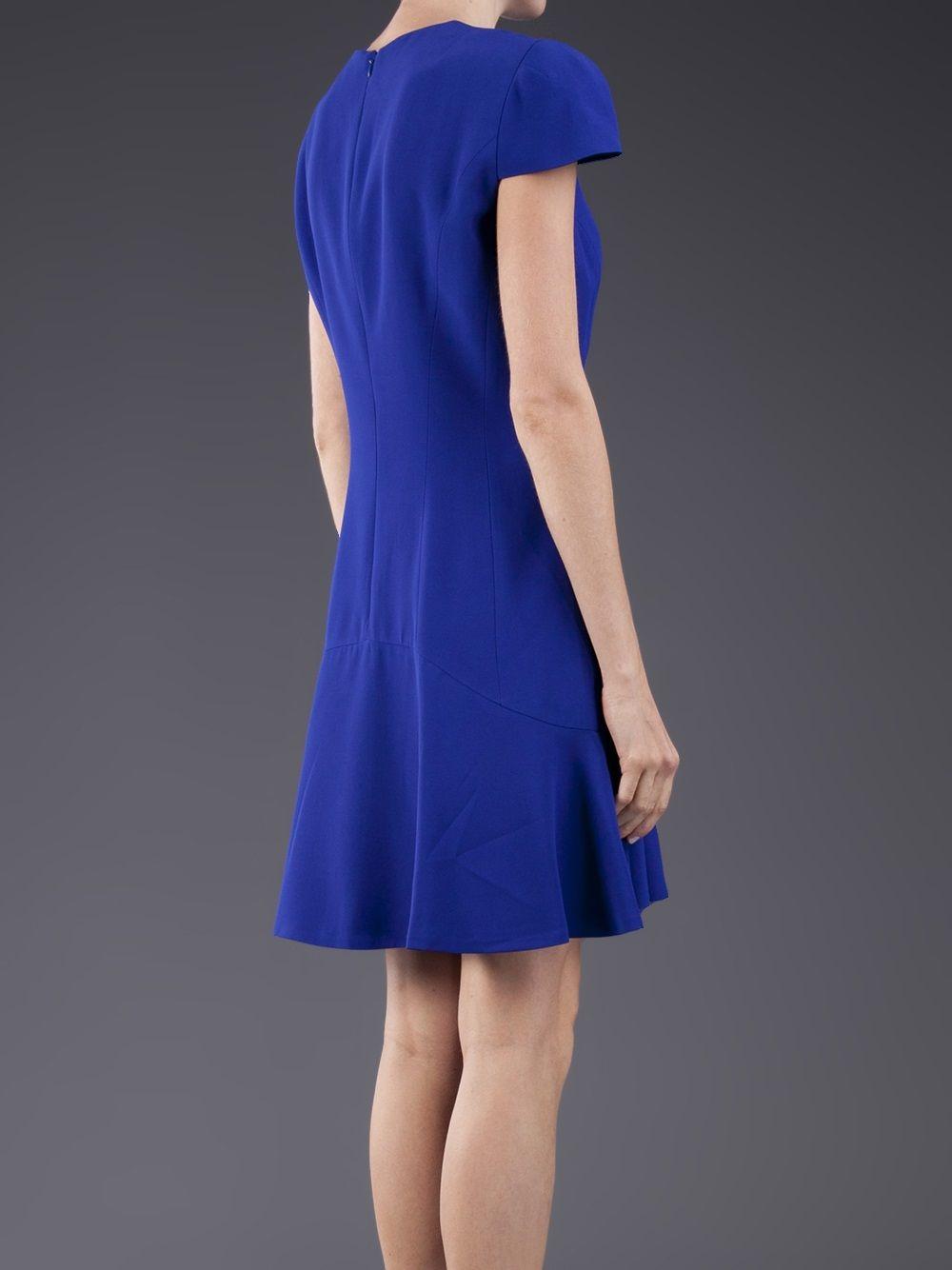 Alexander Mcqueen Cap Sleeve Dress - The Webster - Farfetch.com