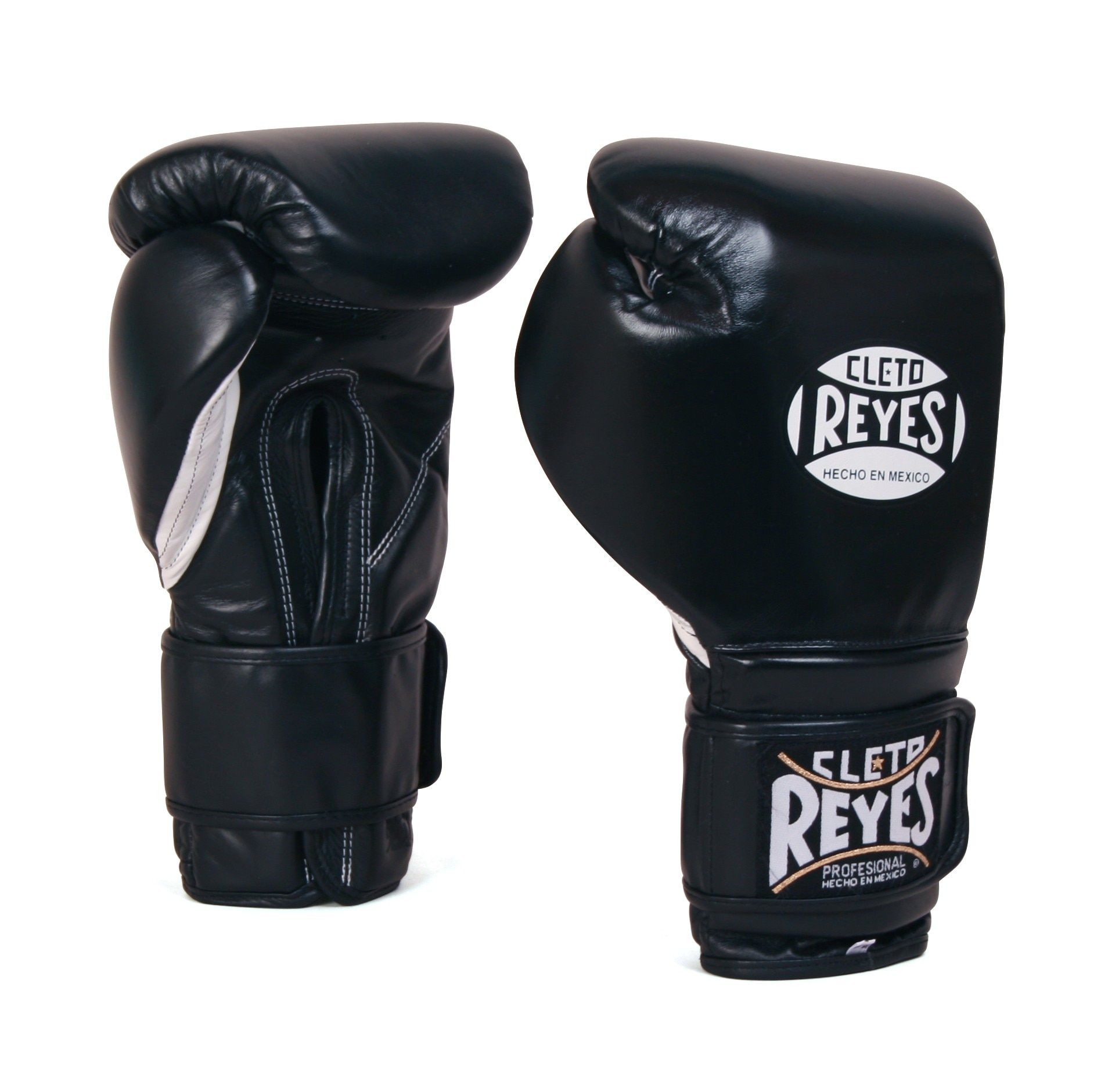 Black Cleto Reyes Professional Lace Up Sparring Training Boxing Gloves