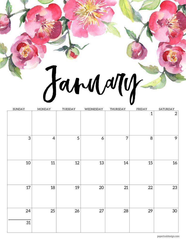2021 Floral Calendar