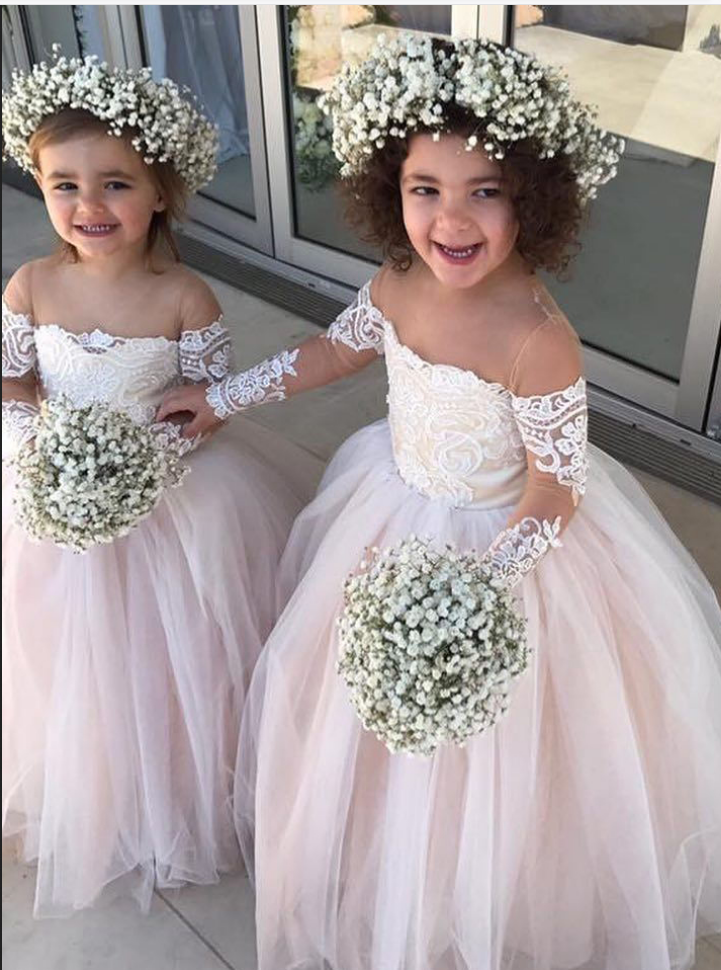 Princess Ball Gown Tulle Flower Dresses Flowerdress Bridal Cute