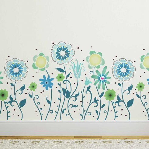 Magic Garden Border Stencil Stencil Decor Kids Room Design Stencil Designs