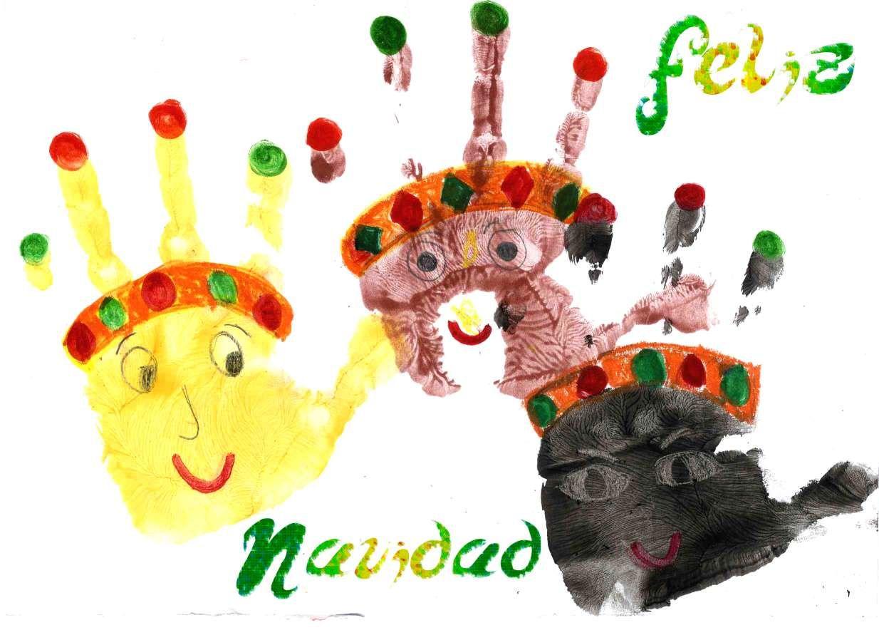 Felicitaci n infantil para navidad reyes magos manualidades y bricolaje pinterest - Manualidades y bricolaje ...