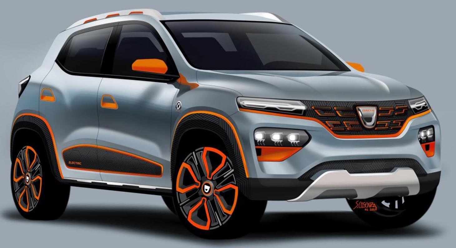 داسيا سبرينغ 2021 الجديدة تماما السيارة الكهربائية الأوروبية الصغيرة الجميلة والأقل كلفة موقع ويلز Geneva Motor Show Dacia Electric Cars [ 795 x 1461 Pixel ]