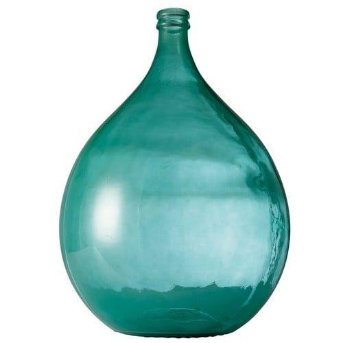 vase de jardin en verre fum bleu dame jeanne bleu maisons du monde happylist les. Black Bedroom Furniture Sets. Home Design Ideas