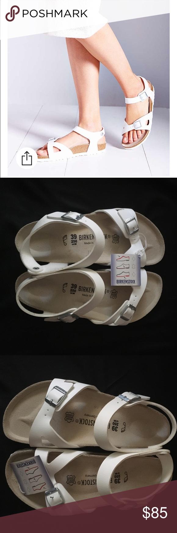 64621778f946 White Birkenstock Rio Ankle Strap Sandals 39 These are brand new Birkenstock