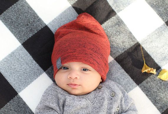 fe0a5ab3ae2 Almost Gone Burnt Orange Slouchy Beanie by NOXXaz on Etsy