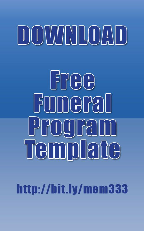 Download funeral program template for free    funeralmemorial - free funeral programs downloads