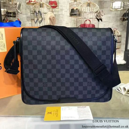 3dcb657f5f835 Louis Vuitton N58029 Daniel MM Messenger Bag Damier Graphite Canvas ...