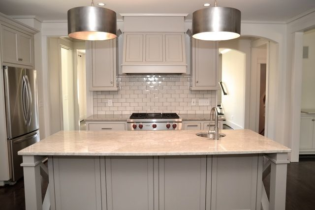 Amazing Kitchen With Perimeter Cabinets Painted Light Gray