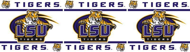 NCAA Louisiana State Tigers Jersey Wall Borders Wall
