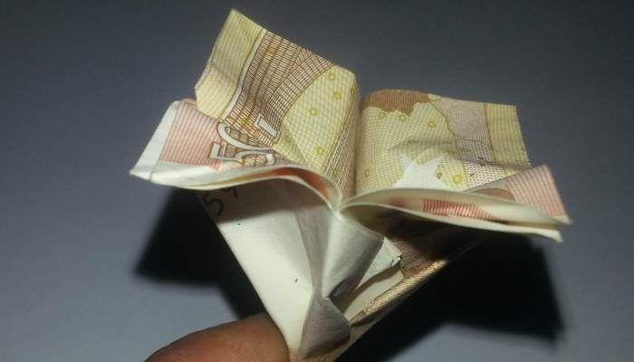 Blume Aus Einem Geldschein Falten