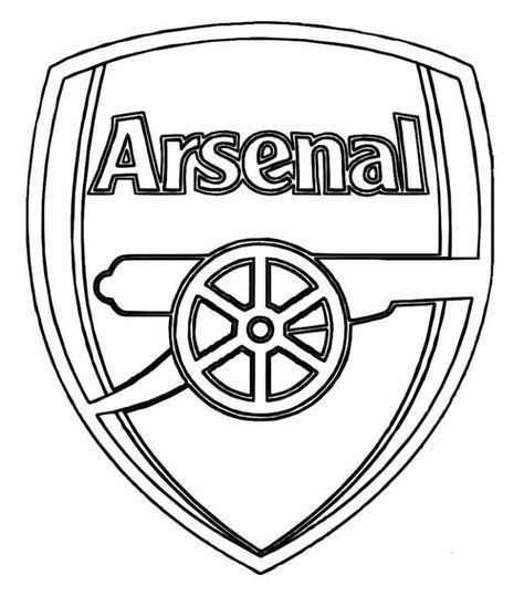 Print Arsenal Logo Soccer Coloring Pages Or Download Arsenal Logo