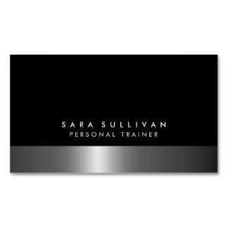 Personal trainer bold dark chrome silver services double sided personal trainer bold dark chrome silver services double sided standard business cards pack of colourmoves