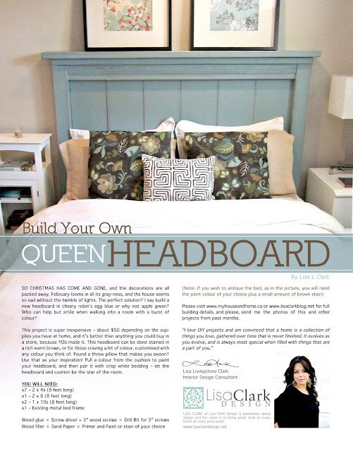 Make Your Own Headboard More