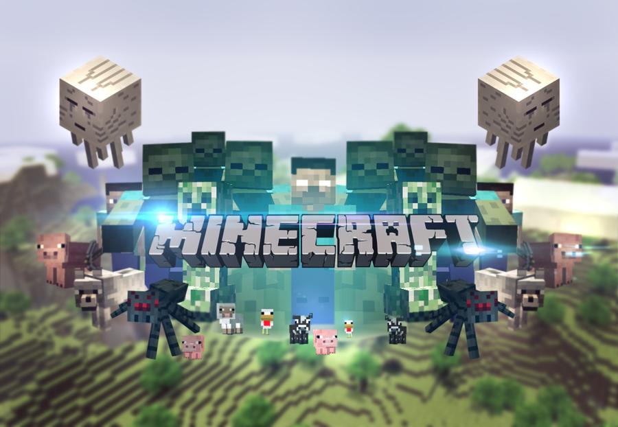 Minecraft wallpaper UPDATED by MikasDA on deviantART