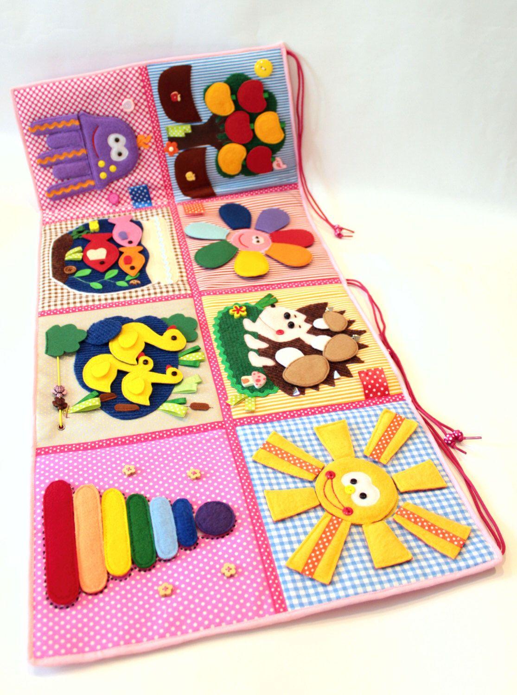 Developing Baby Play Mat, busy mat, Felt Play Mat, Baby