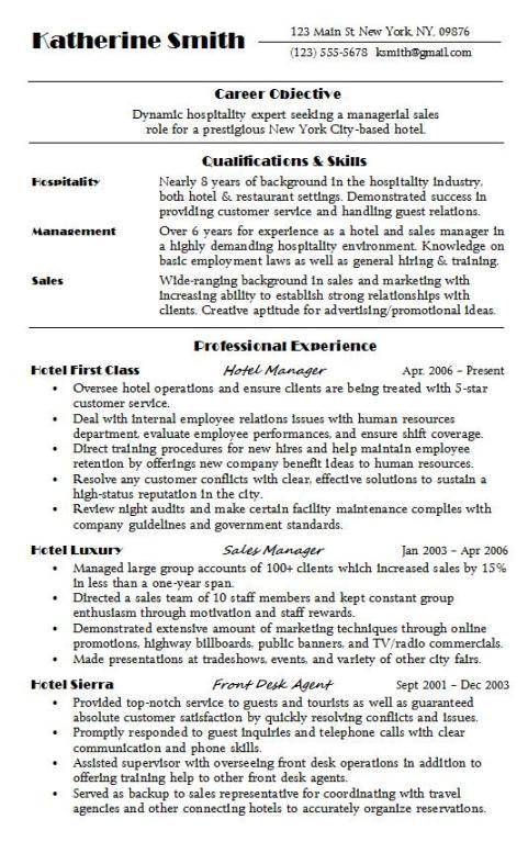 Hospitality Resume Sample Hire Me 101 Sample Resume Job