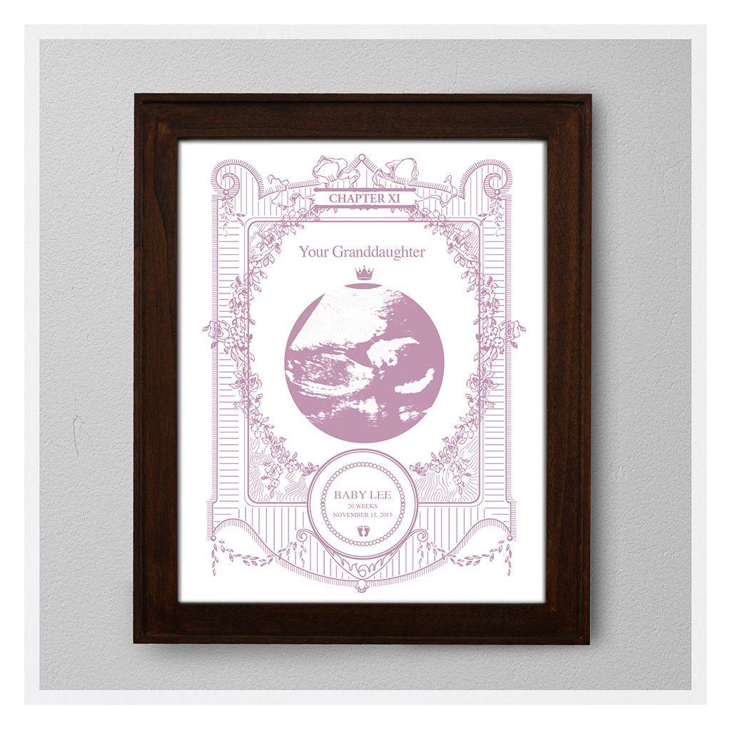 Baby sonogram grandson nursery wall decor nursery art baby sonogram grandson nursery wall decor nursery art personalized baby gifts negle Gallery