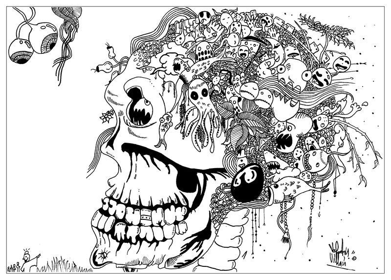 Scary Skull Coloring Pages Di 2020
