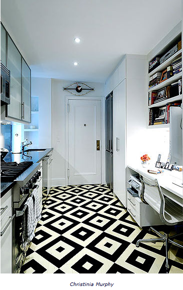 Black And White Kitchen Floor, Kitchen Floor Design