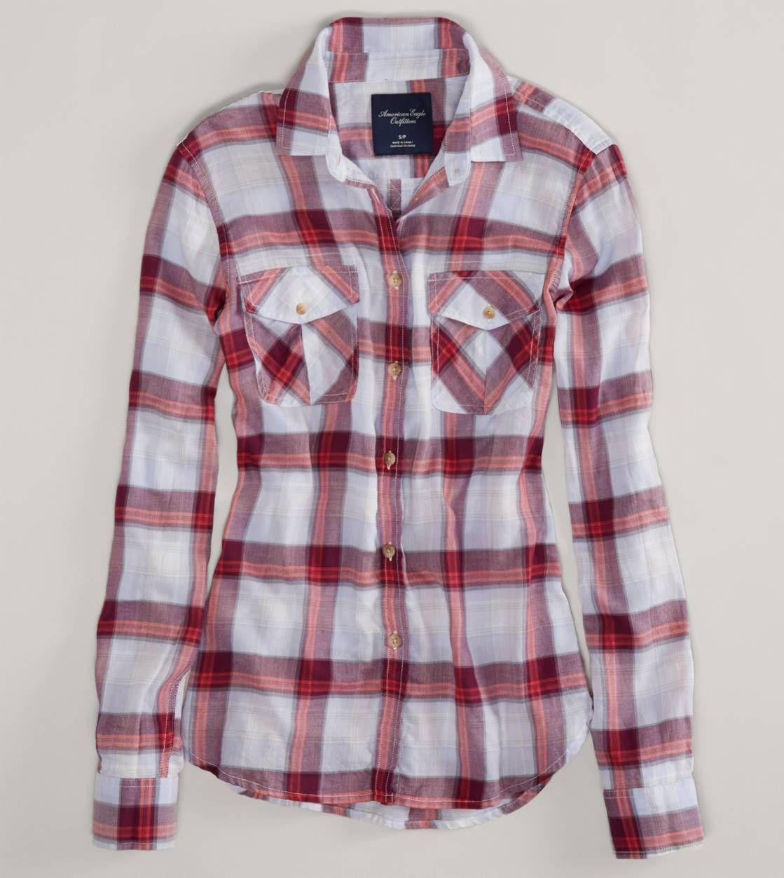 Hollister flannel shirts womens  AE Plaid Shirt  AE  Pinterest  Plaid Clothes and Dream closets
