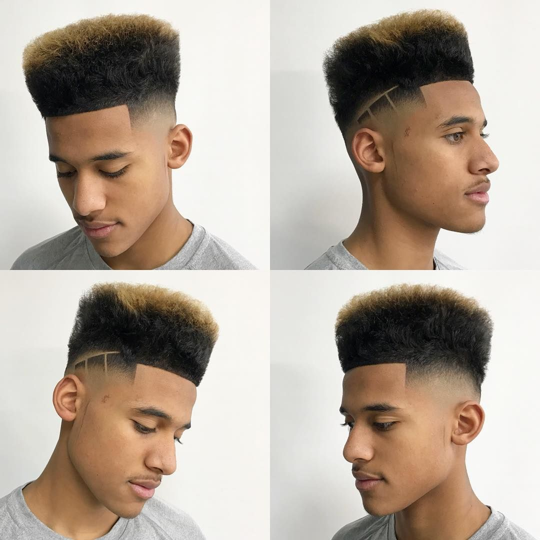 Men's blowout haircut high top  color  design black men hairstyle  hairstyles