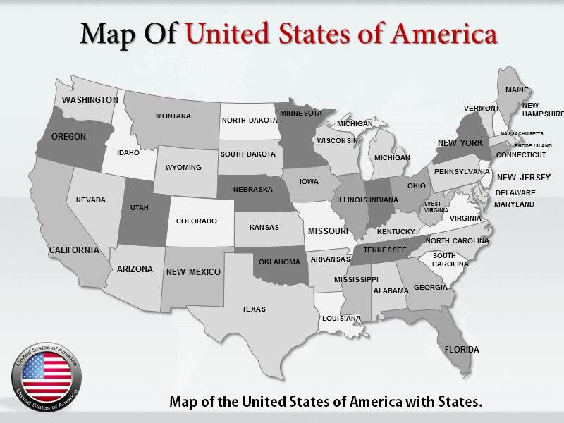 Get high-quality editable maps of the United States of ...