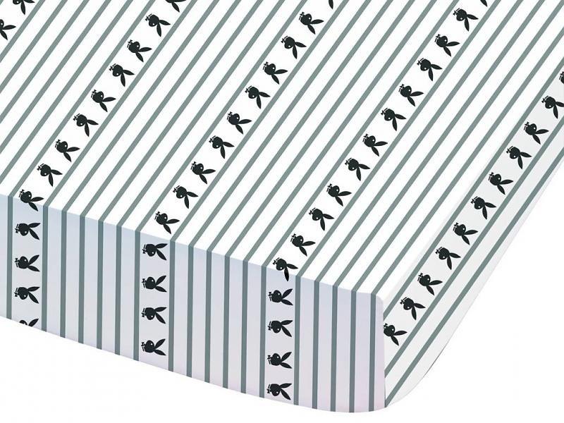 Playboy Hoeslaken Stripes tweepersoons