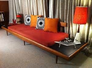 Mid Century Adrian Pearsall Style Long Platform Sofa DayBed