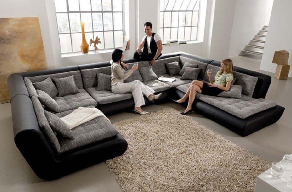 Servierten, Wohnzimmer, Zuhause, Großes Zusammensetzbares Sofa, Leder  Anbausofa, Schwarzer Schnitt, Graue Sofas, Modernes Sofa, Zeitgenössische  Möbel, ...