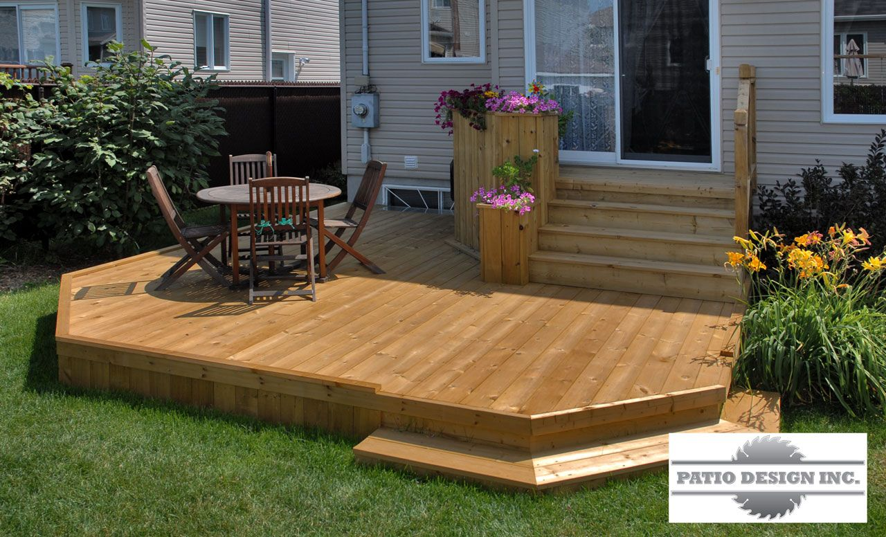 Patio sur cour arri re ext rieur pinterest patios for Patio exterieur en bois