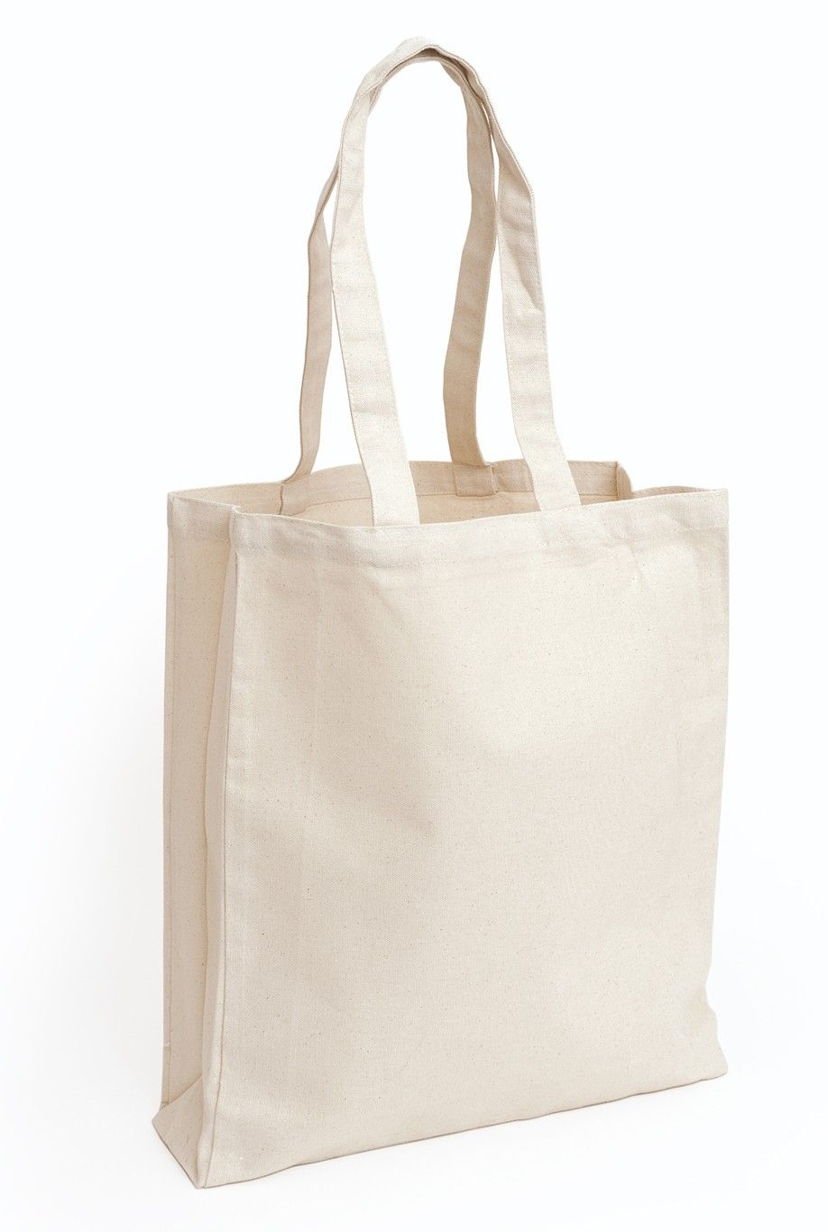 Design Your Own - Deluxe Natural Canvas Tote Bag (Long Handles ...