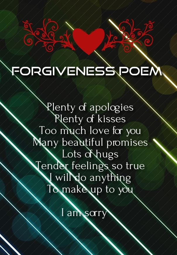 poems about forgiveness romantic poems for her