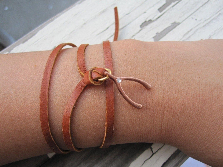 The Wishbone wrap around bracelet.