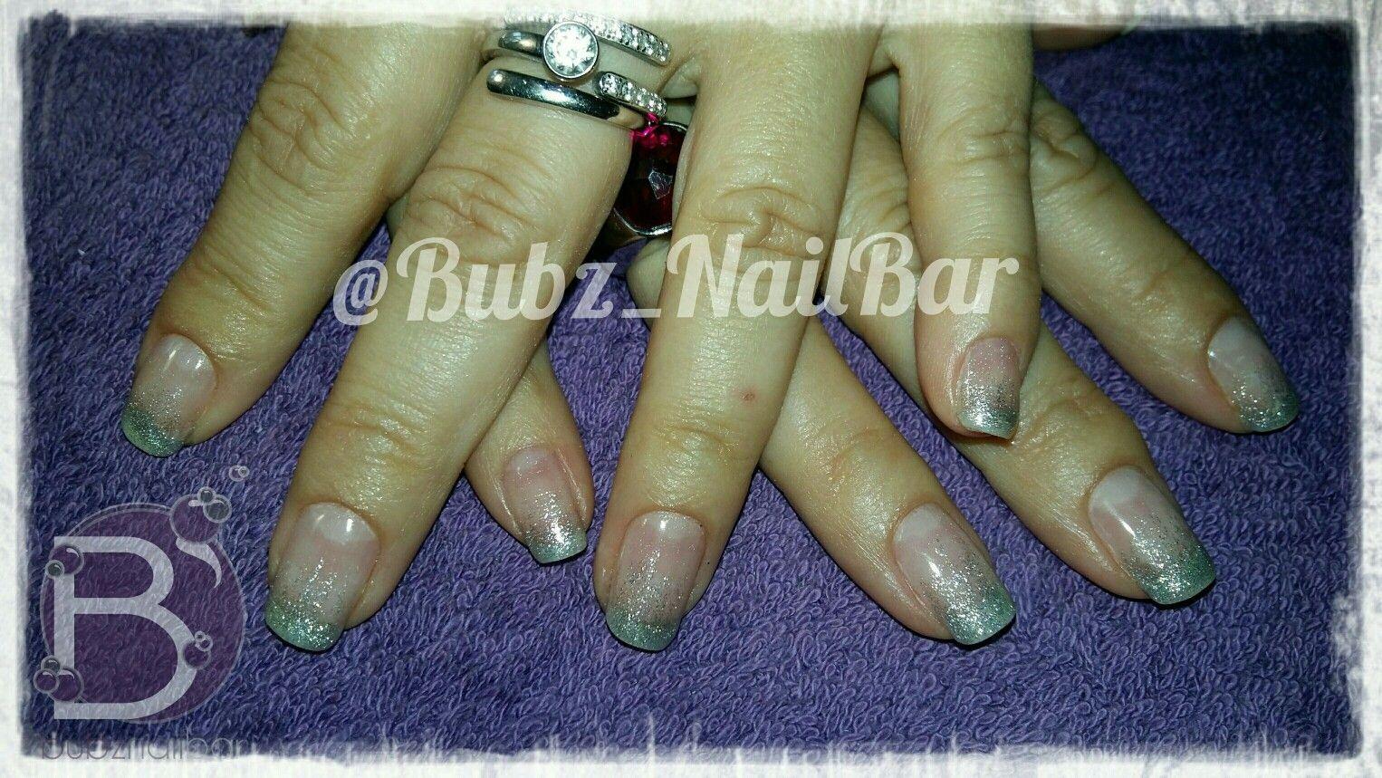 Natural nails with silver gel ombre @Bubz_NailBar | •°○Bubz Nail ...