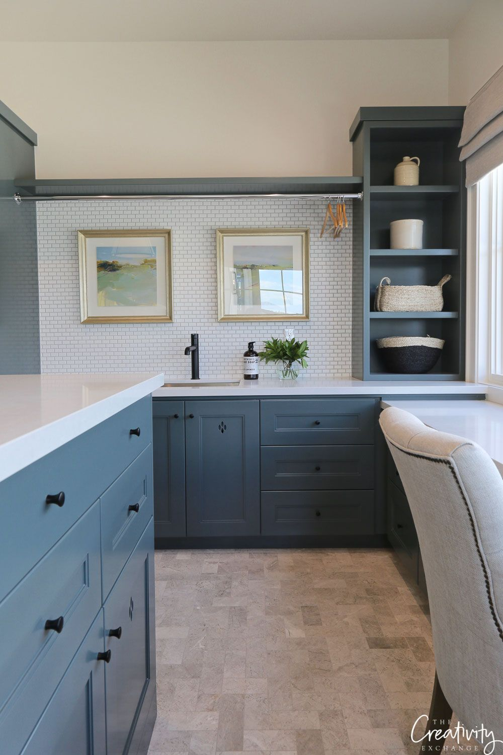 Best Benjamin Moore Knoxville Gray Color Spotlight Kitchen 400 x 300