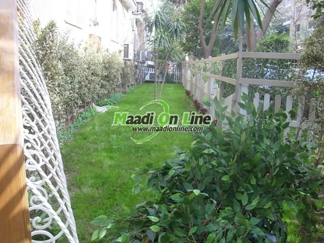 wonderful ground floor with garden-privat entrance 4 rent/ شقه دور ارضى بحديقه ومدخل خاص للايجار. Real Estate Egypt, Cairo, Maadi, Degla, Excellent, Furnished Apartments for Rent, Divided into 3 BedroomsNo,3 Bathrooms  Flooring :Marble Hard wood www.maadionline.com