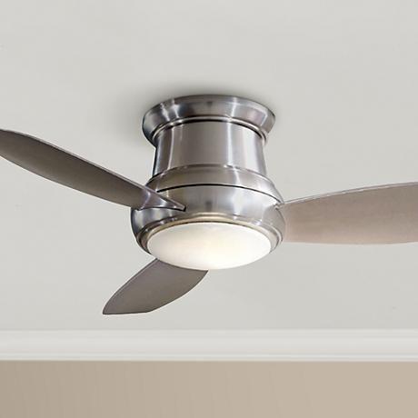 52 Minka Aire Concept Ii Brushed Nickel Hugger Ceiling Fan 70521 Lamps Plus Ceiling Fan Hugger Ceiling Fan Brass Ceiling Fan Ceiling hugger ceiling fans