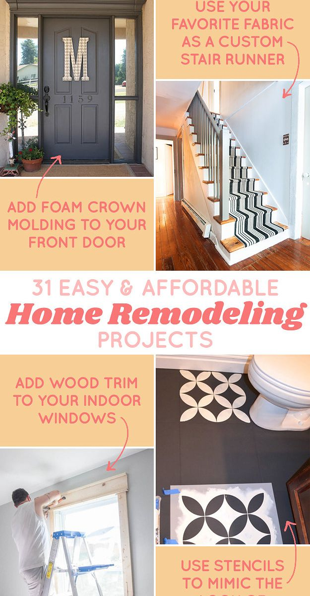31 diy projects that will make your house look amazing house 31 affordable remodeling projects you can actually do yourself solutioingenieria Gallery