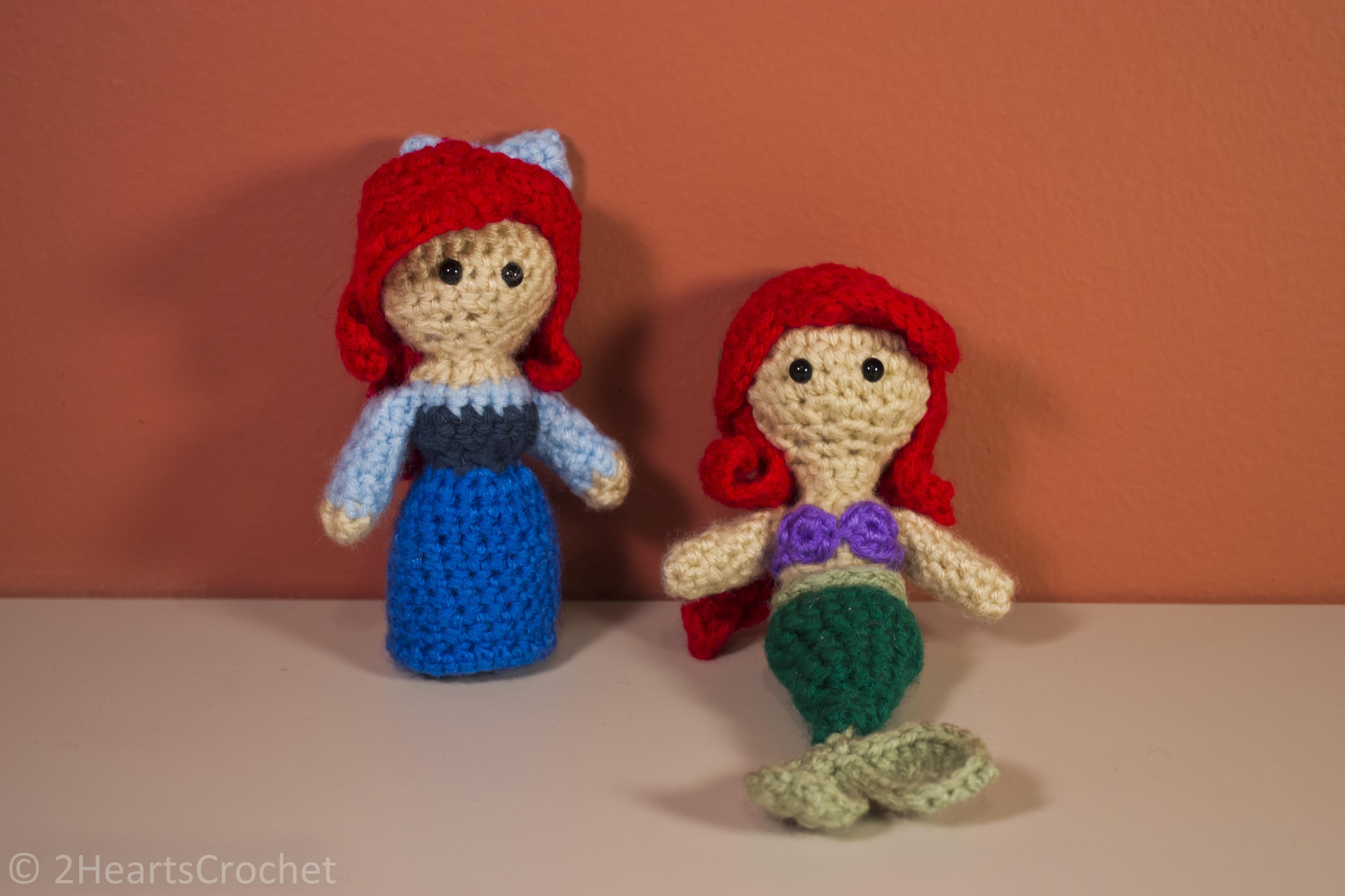 Ariel/Little Mermaid - Free patterns from Two Hearts Crochet ...