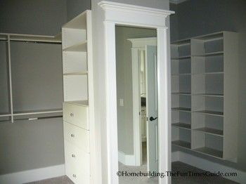 *Master Closet. Mirror Could Be On Hinges And Hide A Safe In The Middle  Area, Bolted To The Floor. I Like The Layout, But Not The Materials Used  For The ...