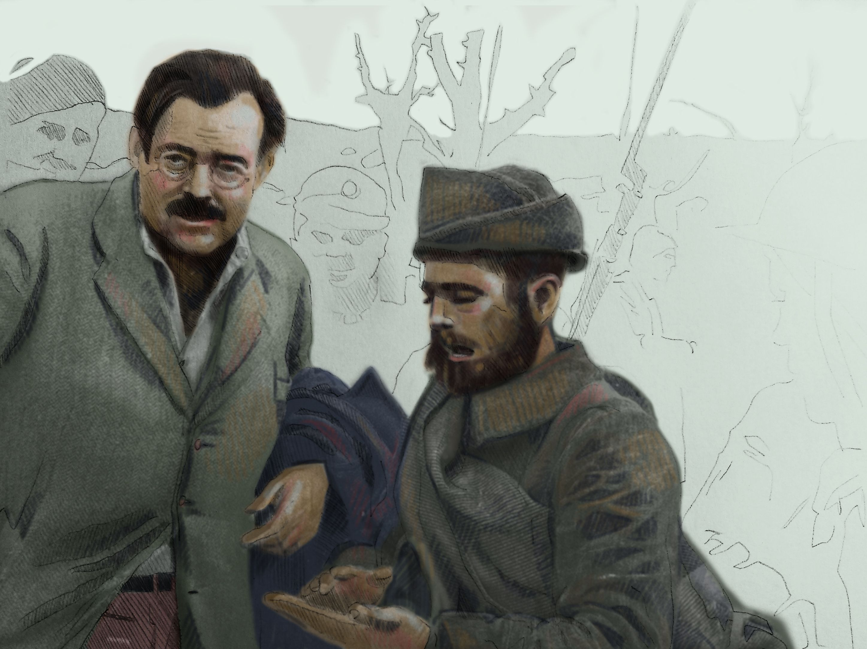 Ernest Hemingway in the Spanish Civil War. (With images